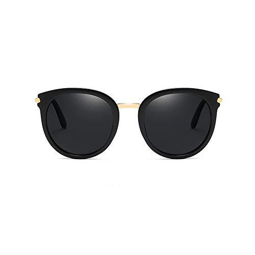 Sunglass Fashion Gafas para la Moda con Corte Ultravioleta Ligero, Cruzado y Caja de Gafas Gafas para Sol Gafas Redondas para el Gato (Color : Blue, Size : Free)