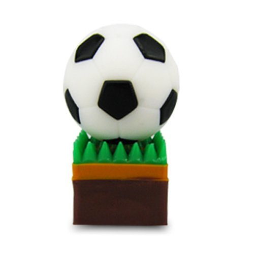 818-Shop No50100090032 Hi-Speed 2.0 USB-Sticks 32GB Fußball Rasensport 3D weiß