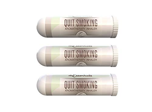 mEssentials 3 Pack of Quit Smoking Aromatherapy Nasal Inhalers Made with 100% natural, therapeutic grade essential oils to help you kick the habit and quench the cravings