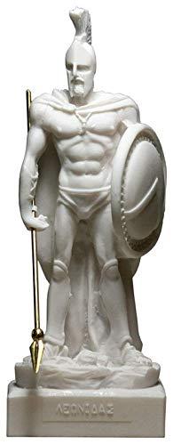 PANGPANGDEDIAN Decoracion Escultura Griega Antigua, Spartan Warrior Estatua Rey Leonidas Escultura colección Arte Paisaje Resina artesanía Domicilio Oficina exhibición decoración
