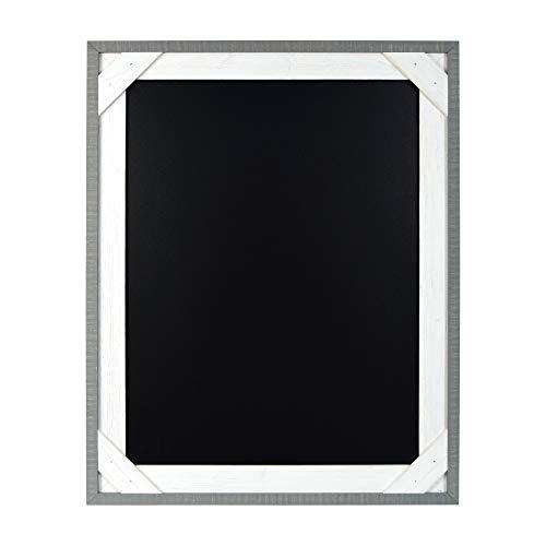 PRINZ Reclaimed 16 x 20 Crosshatch Wood Frame Chalkboard, Gray/White