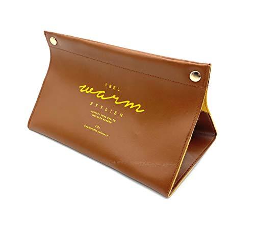 ほうねん堂 ティッシュケース アンティーク pu皮革 ティッシュカバー レザー ティッシュボックス (ブラウン)