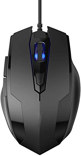 YUKM USB Wired Gaming Mouse 2400DPI Ajustable 6 Botones LED Optical Professional Gamer Mause Ratones de computadora para PC Laptop Mouse Gamer