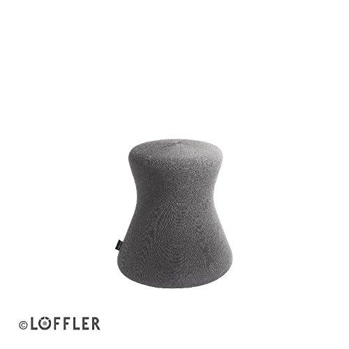 Löffler Fungo rundum beweglicher und ergonomischer Bürohocker mit stabiler Innensäule, Farbe Grau