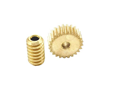 CHENSHUAI Durable For 3D Printer Turbine Worm Gears 0.5M 24T 3mm for Driver Mesh Accessories Fittings Gears 0.5m 1z (Hole Diameter : 3mm, Number of Teeth : 0524 Worm set)