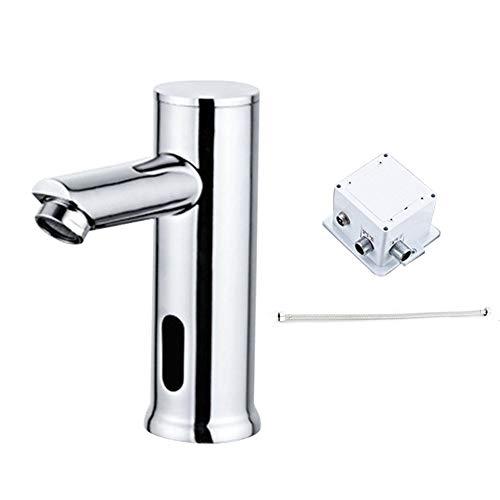 OSISTER7 Rubinetto per lavabo elettrico da cucina e bagno, con sensore automatico in ottone e rubinetto per acqua fredda, montaggio a parete, stile rustico