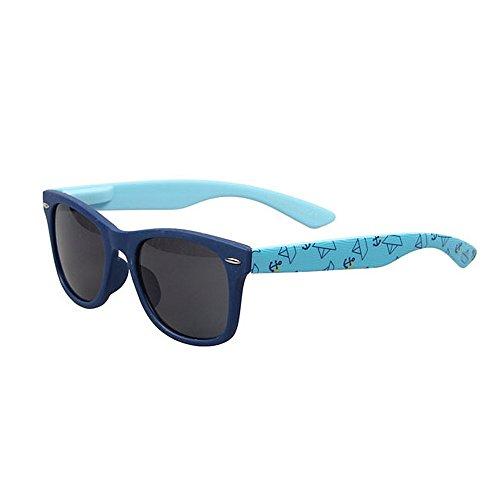 Gafas de moda Gafas de sol para niños Gafas de sol coloridas de dibujos animados para protección UV ambiental para niños Lente de PC Meterial segura para niños Occhiali ( Color : Navy Blue )