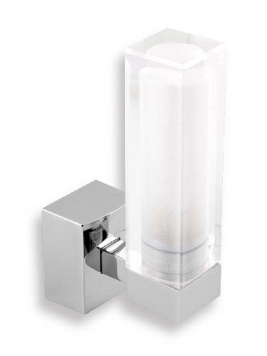Exclusive Badleuchte-Badezimmerleuchte-Wandleuchte-Eckige Form-Glas Weiss-Novaservice