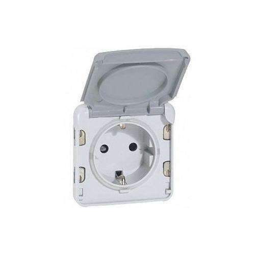 Legrand 69575 - Toma de corriente (1 enchufe, IP44, modular Plexo 55, color gris