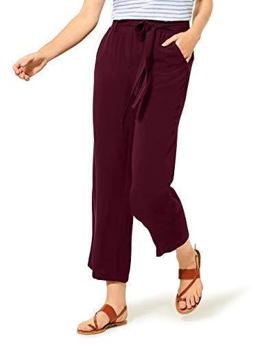 Cecil Damen 373203 Wide Leg Solid Hose, jostaberry red, 46