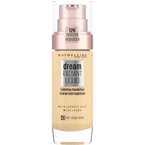 Maybelline New York Dream Radiant Liquid - Base de Maquillaje Líquida con Sérum Hidratante, Tono 043 Buff