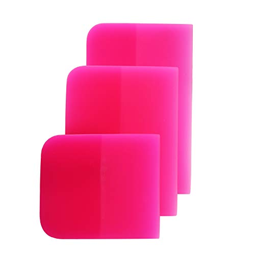 KADELI 3 in 1 TPU Squeegee Material,Anti-Scratch Rubber Scraper for car,PPF Squeegee,Different Sizes Squeegee are Suitable for Vinyl Wrap、car Windshield、Car Glass Cleaning