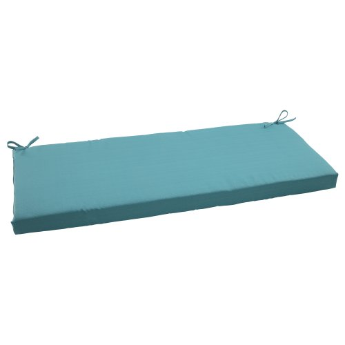 Pillow Perfect Outdoor/Indoor Forsyth Pool Bench/Swing Cushion, 45' x 18', Turquoise