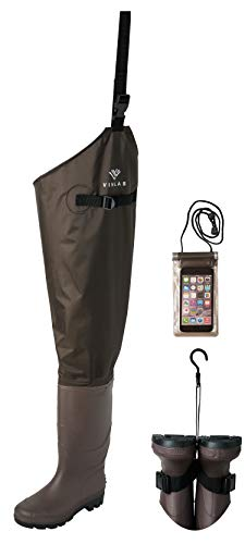 Vinlas Hip Waders, Waterproof Hip Boot for Men and Women, Fishing Hip Wader with Cleated Outsole