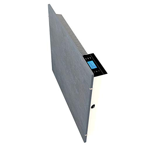 Emerio Speicherstein Heizgerät, SH-122561, perfekte Effizienz aus Infrarot/Konvektor/Heizlüfter, IP24, Iceland Lavastone Design, Wandmontage, 2000 Watt