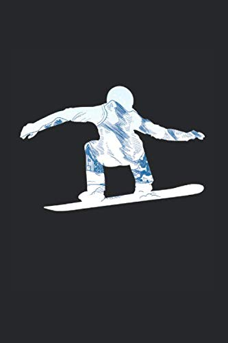 Snowboard: Cool Animated Design For Snowboarding Lover Athlete Player Any Occasion Notebook Composition Book Novelty Gift (6