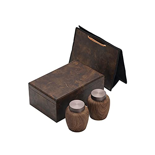 noyydh Canes de thé en céramique, boîtes d'emballage, canettes scellées à Grains de Bois créatifs, boîtes de Rangement domestiques, boîtes-Cadeaux vides Haut de Gamme personnalisées
