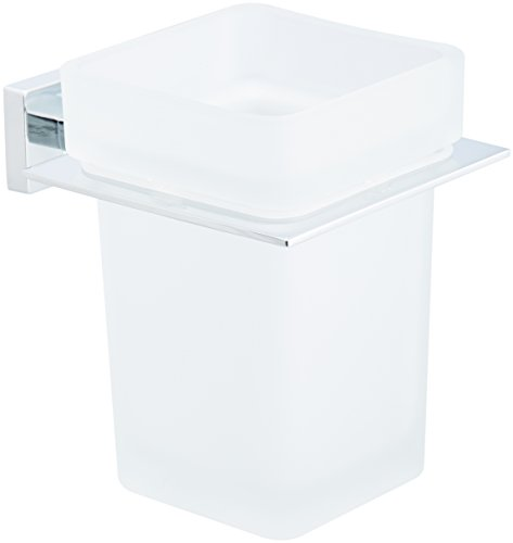 AmazonBasics - Euro-toiletrolhouder Toiletborstelhouder. Gepolijst chroom.