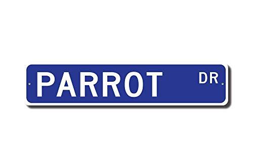 HNNT Nieuwe Papegaai Gift Papegaai Teken Papegaai Decor Papegaai Liefhebber Kleurrijke Tropische Vogels Pratende Vogel Straat Teken 10x40 cm