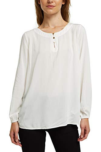 edc by ESPRIT Damen 100CC1F312 Bluse, 110/OFF White, XXS