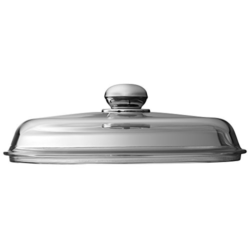 Silit, glazen deksel, 28 cm, met metalen knop, voor potten en pannen, hittebestendig glas, vaatwasmachinebestendig