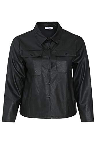 PAPRIKA Damen große Größen Kurze Jacke aus Lederimitat