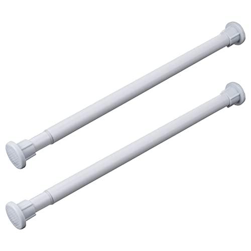 Agoky 1/2Pc Teleskopstange ohne Bohren 25-40cm/ 30-50cm Duschvorhangstange Kleiderstange ausziehbare Gardinenstange für Dusche Kleiderschrank Haushalt Zubehör Weiß 25-40cm