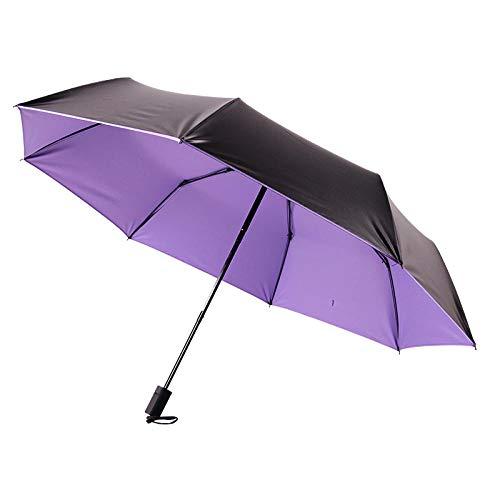 Powzz ornament Paragüero publicitario plegable de vinilo paraguas protector solar adulto pequeño paraguas fresco-púrpura_54cm* 8K