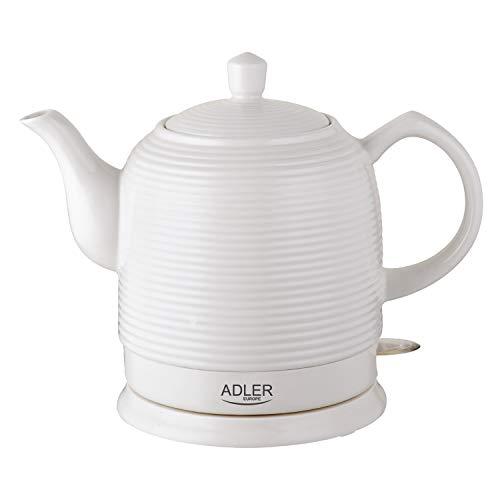 Adler - AD1280 - Bollitore elettrico in ceramica 1,20 litri 1500 W - Bianco