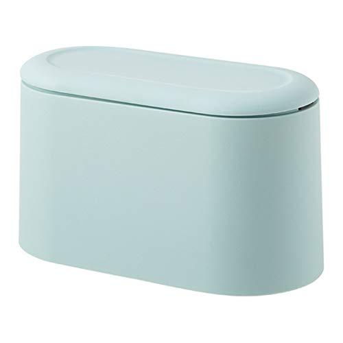 YSCSTORE HumoliStore Klein Trash Can Can Desktop-Papierkorb Haushalt Trash Trash Can aufrollbare Aufbewahrungsbehälter mit Deckel Car Trash Can Blau Modisch und langlebig