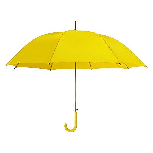 Farbige automatische Kunststoff-Rundhakengriff Regenschirm / Brolly - Gehen Hochzeit Im Freien