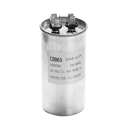LaDicha Condensatore di Avviamento del Compressore del Condizionatore d'Aria CBB65 450VAC del Condensatore del Motore 15-50uF - C(25uF)