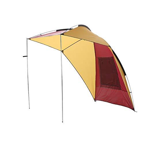 APENCHREN auto luifel luifel/zon schaduw zeil luifel, draagbare auto tent - voor zelfrijdende tour Suv camping, regendichte outdoor multi-persoon schaduw barbecue auto (240x190x200cm/7.8x6.2x6.5ft) Geel