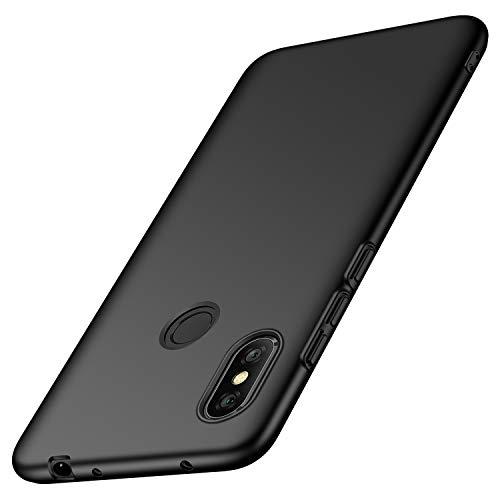 """deconext Funda Redmi Note 6 Pro(2018), Carcasa Ultra Slim Anti-Rasguño y Resistente Huellas Dactilares Protectora Caso de Duro Cover Case paraRedmi Note 6 Pro(2018) 6,26""""Negro Liso"""