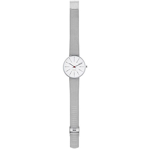 Arne Jacobsen Bankers Small Silver 34mm Mesh Watch 53101-1608