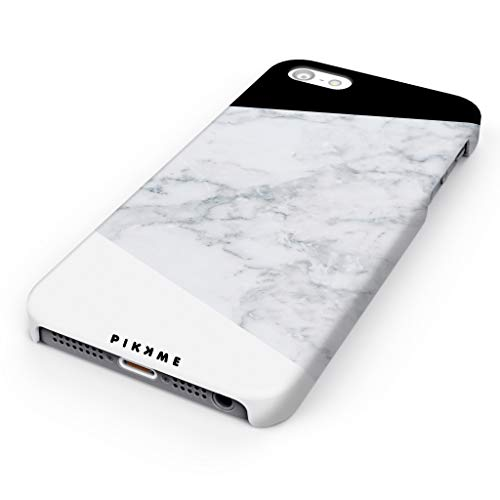 pikkme amazing premium white marble designer printed hard back case and cover for apple iphone 5 / 5s / se (theme4) - White