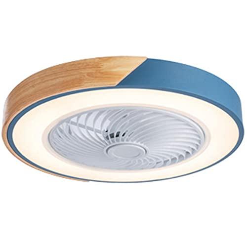 YGTMV Ventilador De Techo con Iluminación LED Luz, Creativo Regulable Moderna con Mando A Distancia, Velocidad del Viento Ajustable, Ultra Silencioso Sala Dormitorio Lámpara del Ventilador 51Cm,Azul