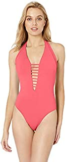 Solana Plunge One Piece Swimsuit with Mesh Inserts [並行輸入品]