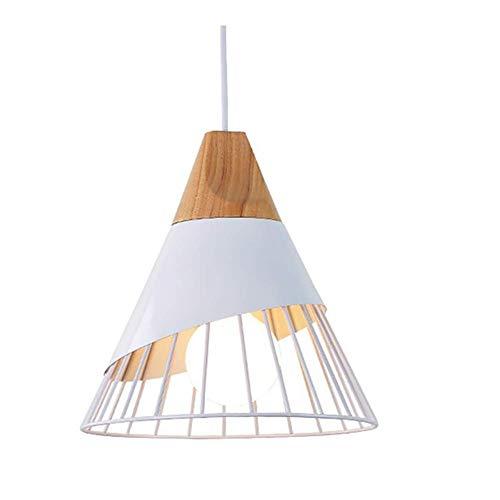 YGB Pendelleuchte Deckenleuchte Kronleuchter Aluminium Holzkäfig Kreative Kegel Moderne Beleuchtung Innenbeleuchtung Weiß Schwarz IKEA Restaurant Wohnzimmer Schlafzimmer Arbeitszimmer