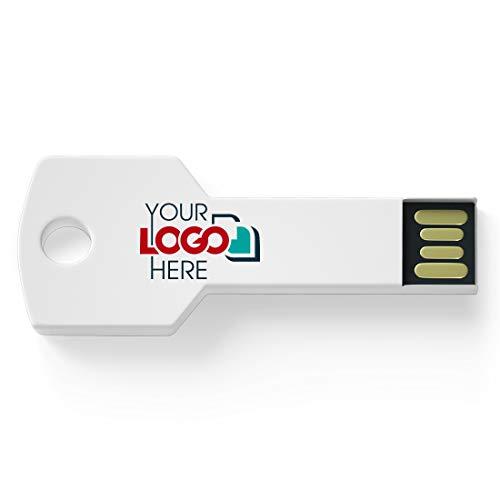 Possibox Memoria USB Llave Personalizada 32GB para Publicidad Pendrive con Logotipo/Texto - al por Mayor - USB 2.0 Blanco, 1000 Piezas