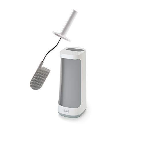 Joseph Joseph 70516 Flex Plus Smart Toilet Brush with Storage Bay - Grey/White