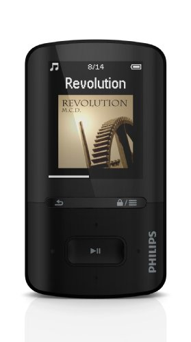 Philips SA4VBE04KN/12 GoGear Vibe MP4-Player 4GB (4,6 cm (1,8 Zoll) LCD-Display, USB 2.0) schwarz