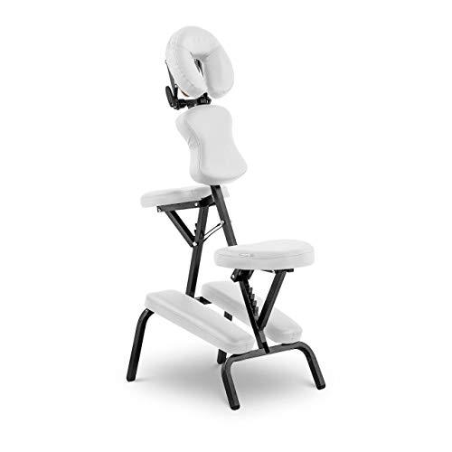 physa MONTPELLIER WHITE Massagestuhl klappbar weiß Belastbarkeit 130 kg Massagestitz