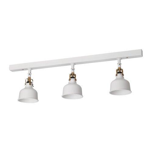 IKEA RANARP - pista de techo, 3-puntos blancos