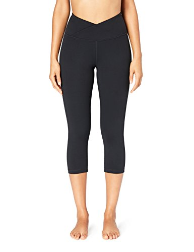 Amazon Brand - Core 10 Women's 'Build Your Own' Yoga Pant - Cross Waist Capri Legging, 3X, Black