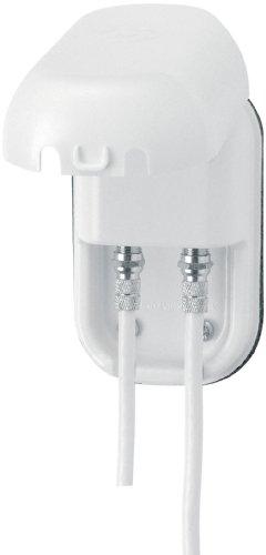 Maxview Twin Weatherproof Socket - White