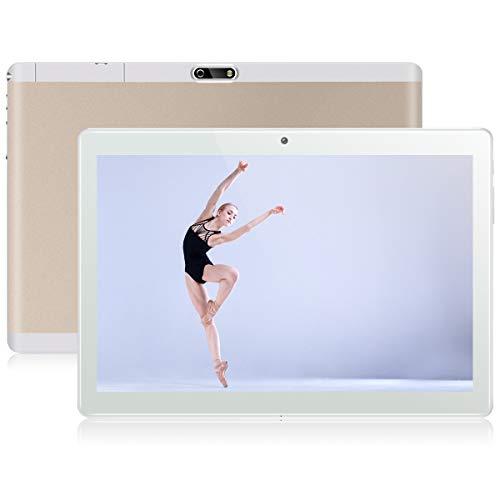 QIMAOO 10.1 Inch Tablet Android 8.1, 32GB ROM 2GB RAM, Dual SIM Card Slots, WIFI, Google Play, GPS, FM, Cameras, Quad Cord, Metal Housing, 1280 * 800 HD Glass Screen - P24