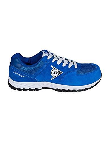 DUNLOP Sicherheitsschuh S3 blau aus Wildleder und Mesh (Gitter), wasserabweisend, mit Zehenkappe aus Komposite und freiem Metall, EN ISO 20345:2011 - DL0201015, Blau - blau - Größe: 44 EU