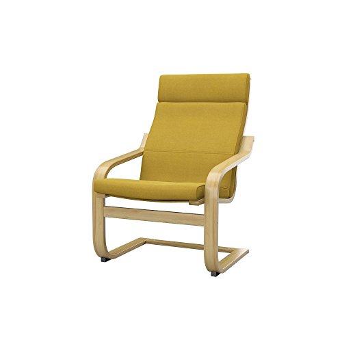 Soferia - IKEA POÄNG Funda para sillón, Elegance Dark Yellow