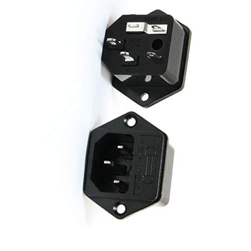 Aexit 2 Stücke IEC320 C14 Elektronischer Dampfgarer Rückstaukl Steckdose + Sicherung